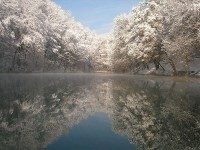 Aggteleki National Park in Hungary, winter view