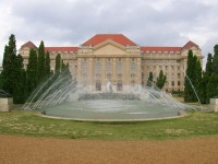Front view of the University of Debrecen