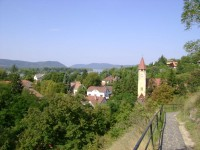Zebegeny - view over the village