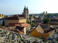Eger castle - view over the city