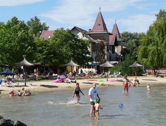 Beach at lake Balaton in Keszthely