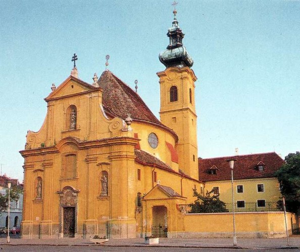 Carmelite Church in Gyor, hungary