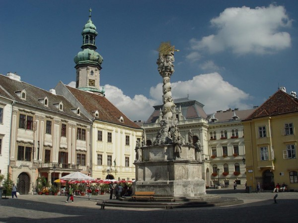 Main Square of the city of Sopron, Hungary