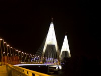 The new Megyeri Bridge in Budapest