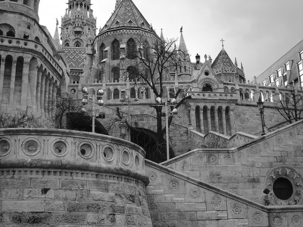 The stairs of the Fisherman's Bastion
