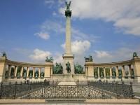 The Heroes' Square in Budapest