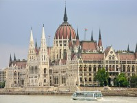 The Hungarian Parliament from the Danube