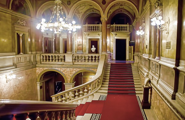 The interior of the Opera House in Budapest