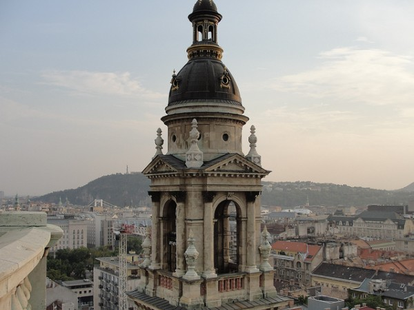 View from the dome of the St. Stephen Basilica