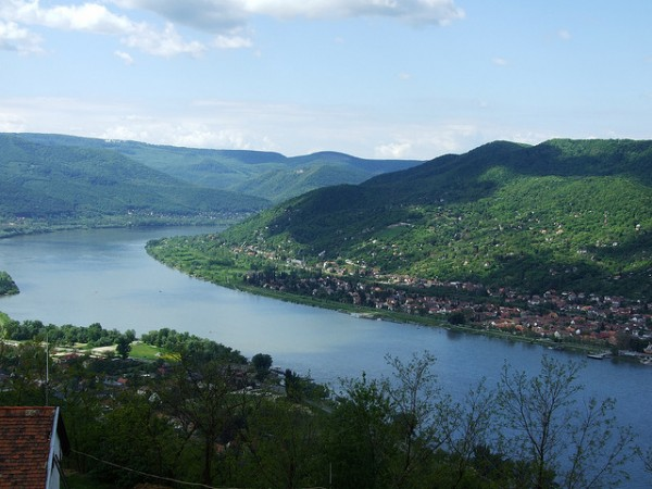 The Danube bend at Visegrad