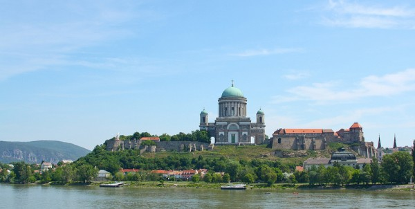 The basilica and the castle in Esztergom