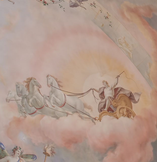 Mural on ceiling in the main music room or ballroom