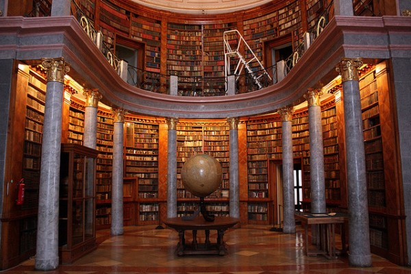 The library of the abbey