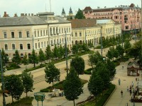 The town square of Debrecen