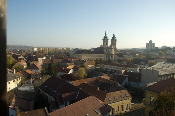 View of the city of Eger