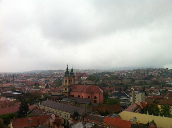 View of the city of Eger with the castle