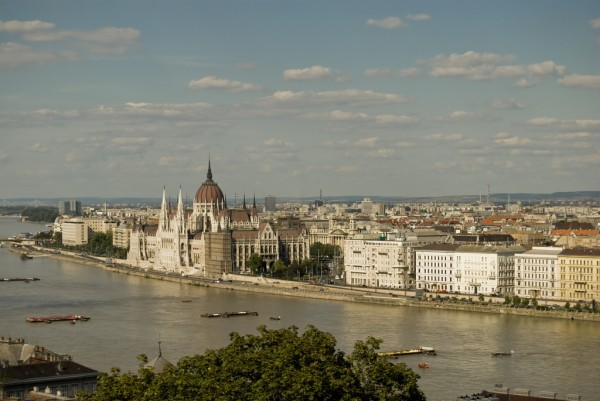 Budapest Danube bank with the Parliament