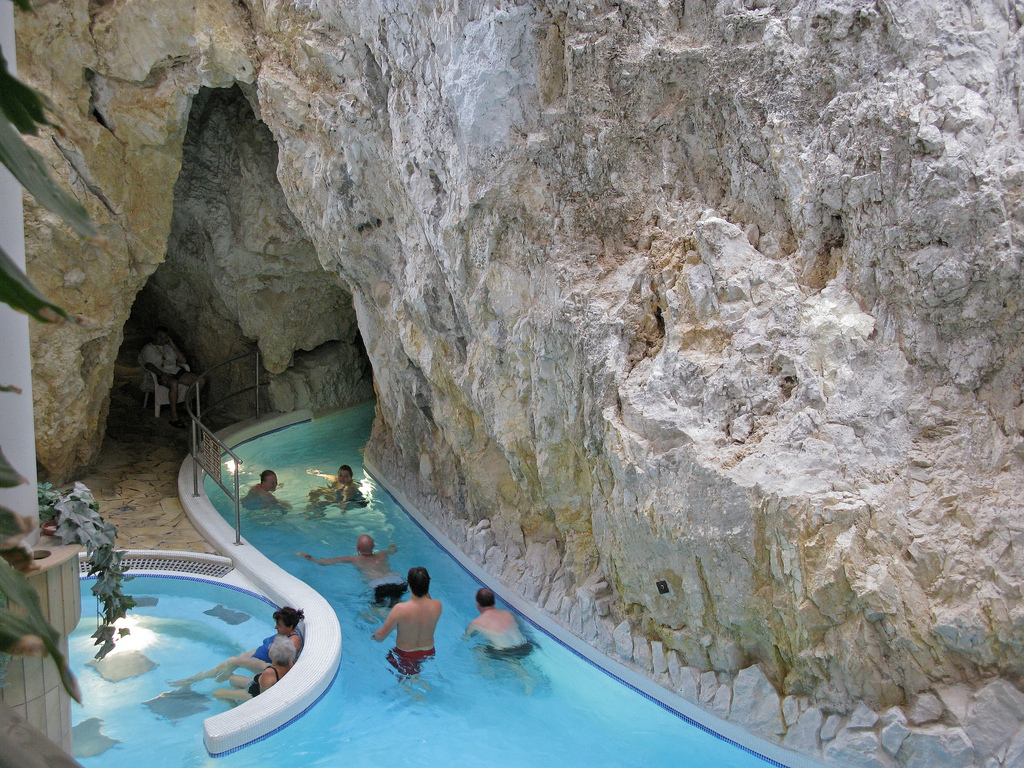 Inside Swimming Pool The Famous Cave Spa Of Miskolctapolca Hungary Travel Guides