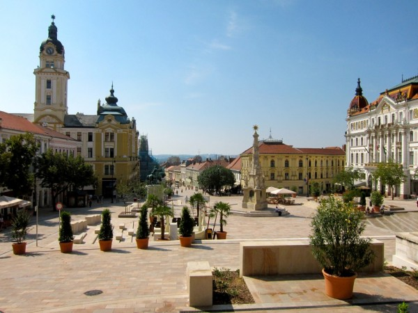 The Szechenyi Square of Pecs