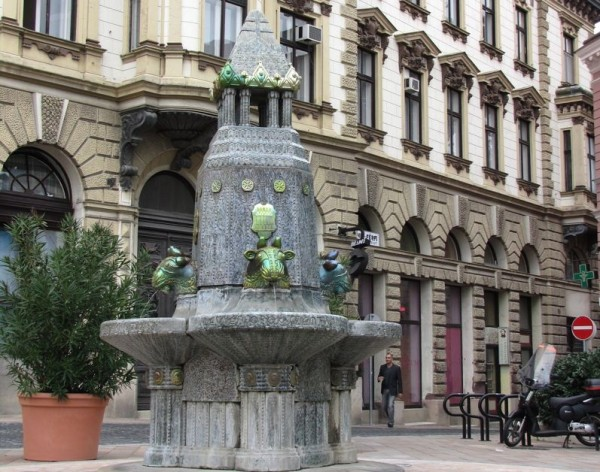 The Zsolnay Fountain on the Szechenyi Square