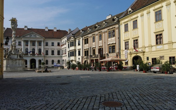 The city center of Sopron