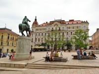 The Szechenyi Square in Pecs